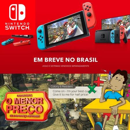 Nintendo Switch será oficialmente lançado no Brasil