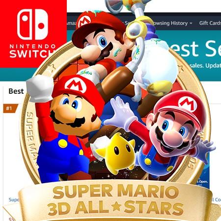 Super Mario 3D All-Stars torna-se o segundo game mais vendido da Amazon em 2020