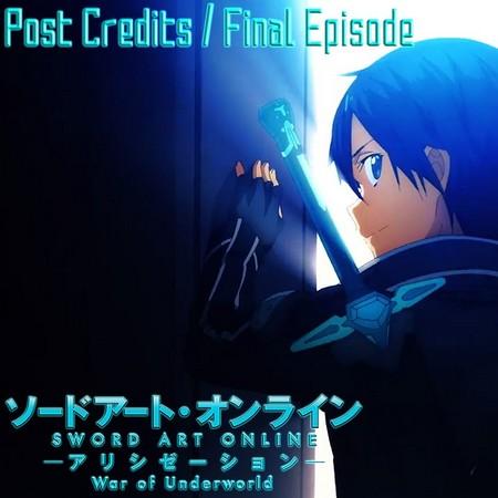 Sword Art Online - Alicization - War of Underworld - Kirito Will Return e a Cena Pós-Créditos do Anime