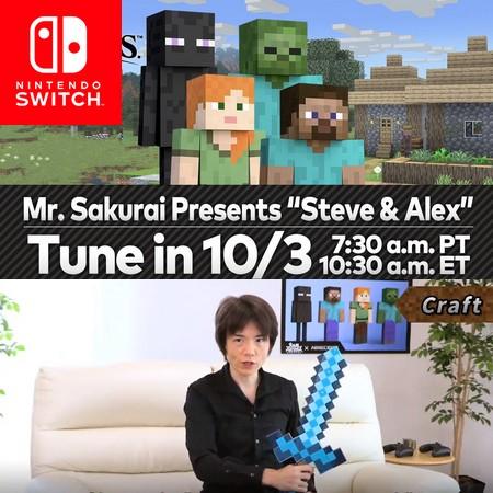 Super Smash Bros Ultimate - Mr. Sakurai apresenta Steve e Alex do DLC