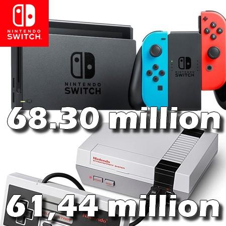 Nintendo Switch ultrapassa vendas totais do NES (Nintendinho)