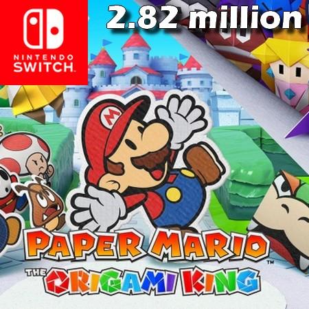 Paper Mario - The Origami King ultrapassa 2,82 milhões de unidades vendidas