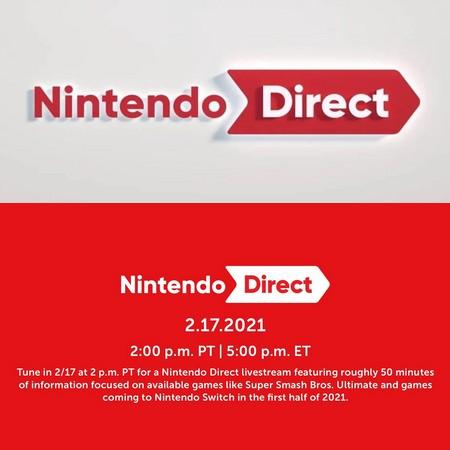 Nintendo Direct - Anunciado Evento Digital de Fevereiro 2021
