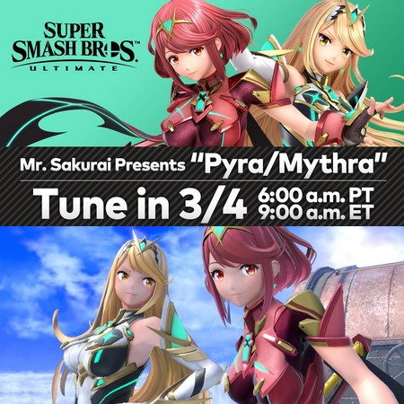Super Smash Bros Ultimate - Mr. Sakurai apresenta Pyra e Mytra do DLC