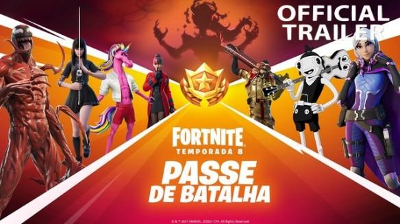 Fortnite - Carnificina Total! Trailer do Battle Pass do Capítulo 2 Temporada 8!